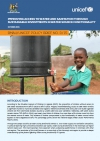 Improving access to water and sanitation through sustainable investments in water source functionality