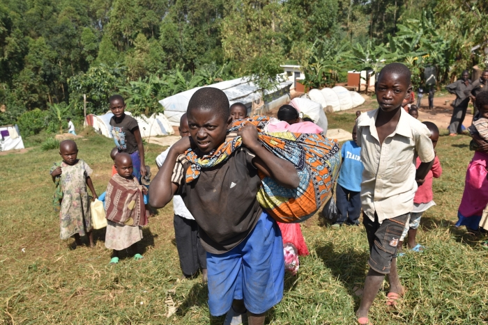 61% of Congolese refugees crossing into Uganda are children